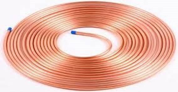 tubo de cobre flexible